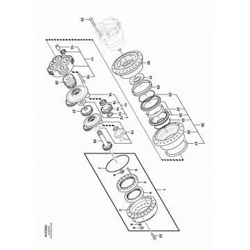 JCB 20/906500 Reman Hydraulic Final Drive Motor